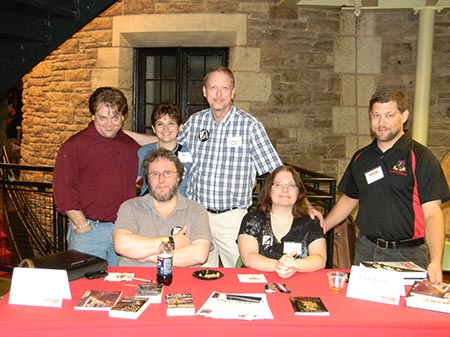 Book signing at Seton Hill University, with Scott Johnston, Kristin Dearborn, Gary Braunbeck, Lucy Snyder, J.L. Benet.