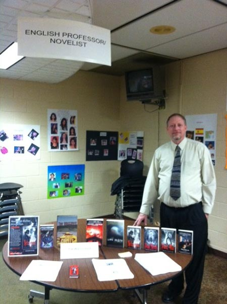 Representing at College Career Night, 2012.
