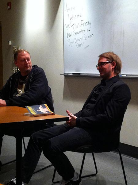 Halloween reading at Wilmington College, with Anderson Prunty, 2012.