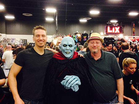 With Jonathan Janz and Nosferatu at HorrorHound 2015.
