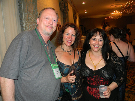 With Dana Fredsti and Sephera Giron at the World Horror Convention in New Orleans, 2013.